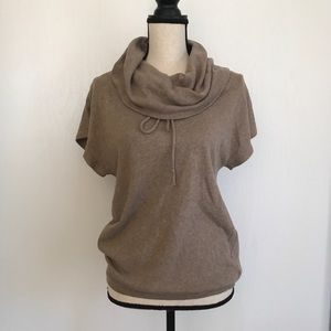 GAP Cowl Neck Short Sleeve sweater